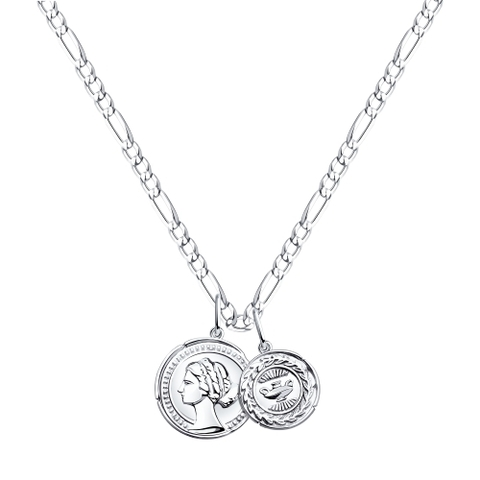 94070326 - Колье из серебра Две монеты