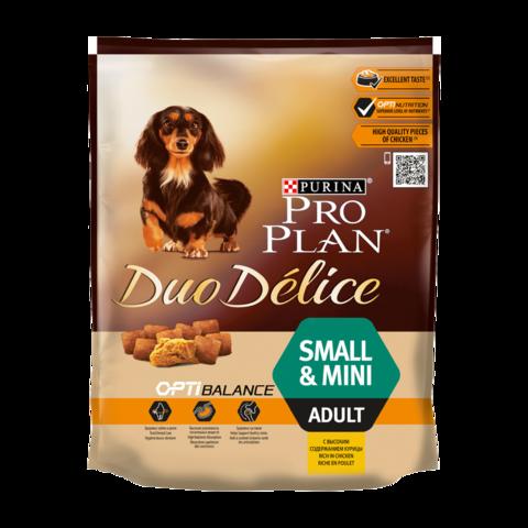 Purina Pro Plan Duo Delice Сухой корм для взрослых собак мелких и карликовых пород с курицей и рисом