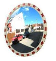 Сферическое зеркало дорожное со световозвращающей окантовкой