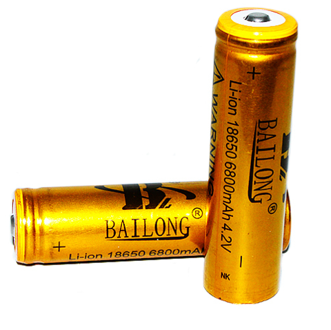 Аккумуляторы 18650 6800-8800mAh (Li-ion) gold