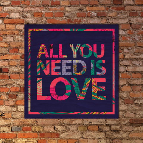Настенная мандала ALL YOU NEED IS LOVE