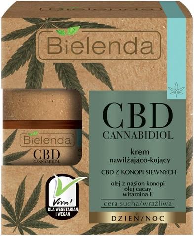 CBD Cannabidiol увлажняющий и успокаивающий крем с CBD из семян конопли для сухой и чувствительной кожи.