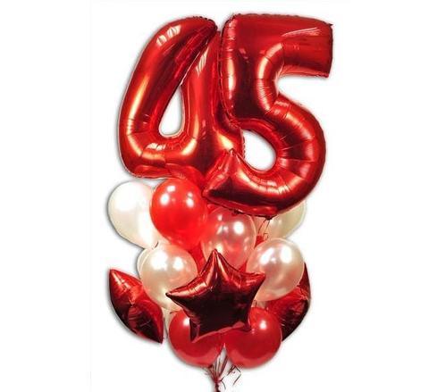 Фонтан из шаров на 45 лет