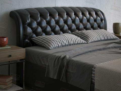 Кровать Сонум Venezia (Венеция) экокожа черная