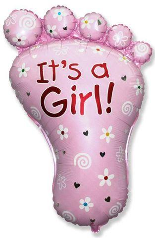 Фольгированный шар Стопа девочки