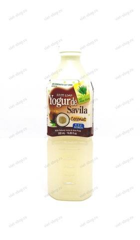 Корейский напиток Yogo vera Сoconut (алоэ+кокос), 500мл.