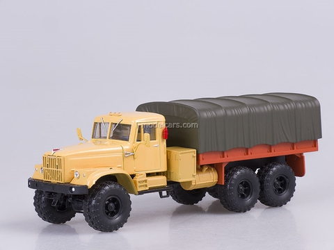KRAZ-255B board with awning 1979 orange 1:43 Nash Avtoprom