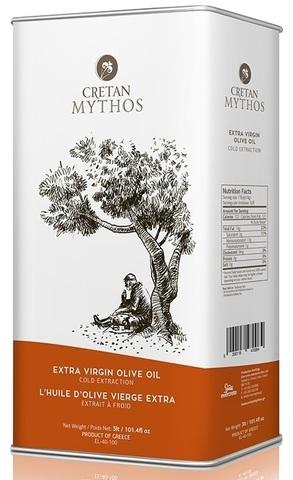 Оливковое масло Cretan Mythos Extra Virgin с острова Крит 3 л жесть