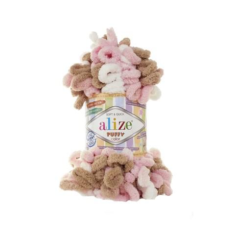 Купить Пряжа Alize Puffy Color Код цвета 6046 | Интернет-магазин пряжи «Пряха»