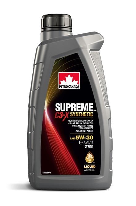 SUPREME C3-X SYNTHETIC 5W-30 Petro-Canada моторное масло для двигателей 1 литр