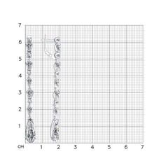 94022211- Серьги длинные из серебра с горным хрусталем от SOKOLOV