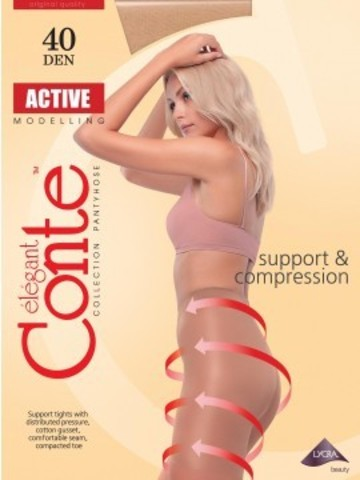 Conte Active Колготки женские 40d, p.2 bronz
