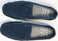 Модные мокасины мужские IKOC 1352-2 Blue.