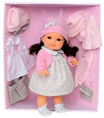 JUAN ANTONIO Munecas Кукла Ирма в розовом,с набором одежды (2251P)