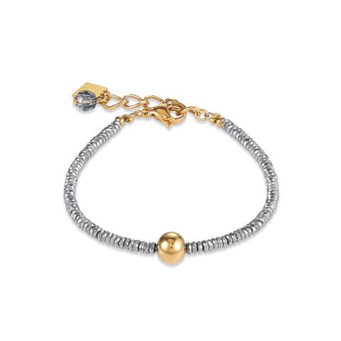 Браслет Coeur de Lion 4932/30-1617 цвет серый, золотой