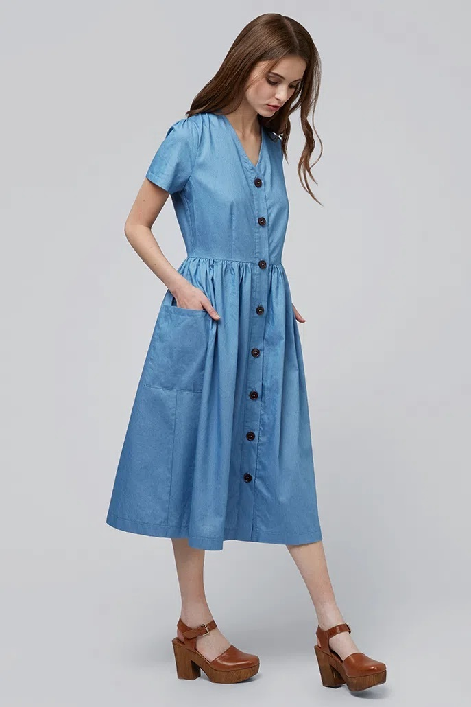 Платье LOUCHE ZELDA CHAMBRAY