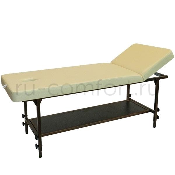 Массажный стол Классик 200х80Р с полкой фото