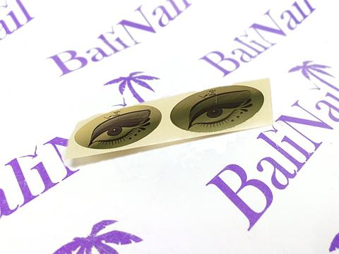 Чистовье Наклейка на глаза для солярия (золото) 100 пар