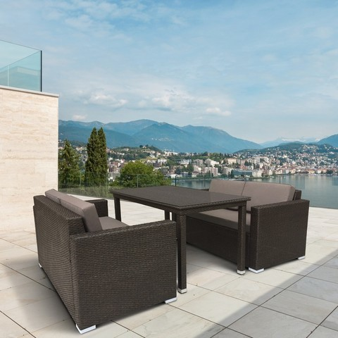 Комплект плетеной мебели T256A/S52A-W53 Brown