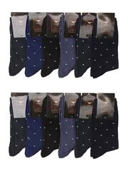 NO916 носки мужские, цветные 42-46 (12 шт)