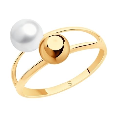 791158 - Кольцо из золота с жемчугом
