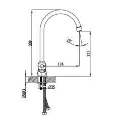 Смеситель KAISER Topaz 17233 для кухни схема
