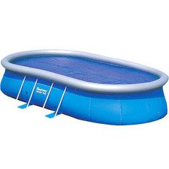 Бассейн овальный Bestwey Oval Fast Set  549х366х122см, 15033л. Лестница, подложка, тент, фильтр-насос.
