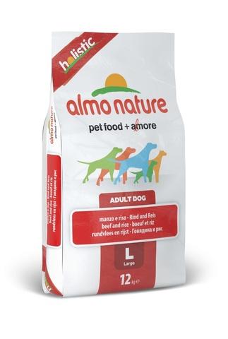 Сухой корм Almo Nature Holistic - Large Adult Beef and Rice