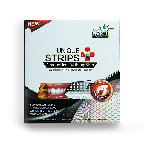 Отбеливающие полоски Unique Strips Charcoal