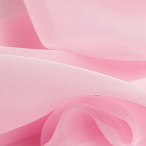 Ткань вуаль однотонная для штор розовая. Ш - 300 см. Арт. -ETR 41