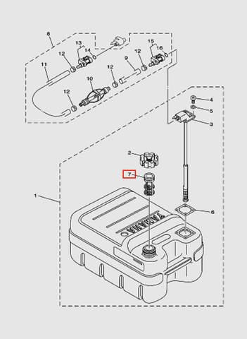 Фильтр сетчатый для лодочного мотора T15, OTH 9,9 SEA-PRO (18-7)