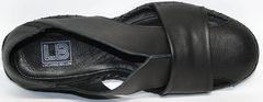 Мужские сандалии из кожи Luciano Bellini 801 Black.