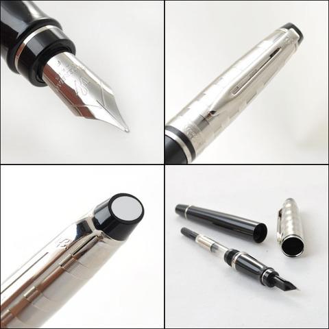 Перьевая ручка Waterman Expert 3 DeLuxe, цвет:  Black CT, перо: F123