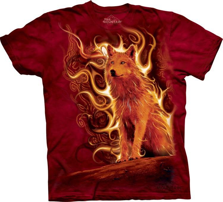 Футболка Mountain с изображением огненного волка - Phoenix Wolf