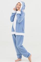 "Детская пижама-кигуруми Футужама ""Санта"" голубой"