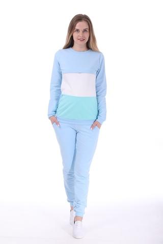 Спортивный костюм для беременных и кормящих 09909 голубой