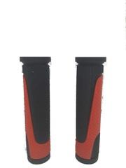 Грипсы MTB XH-G56B 125mm,  резина,черно\красные