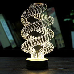 """Светодиодная 3D лампа """"Спираль"""""""