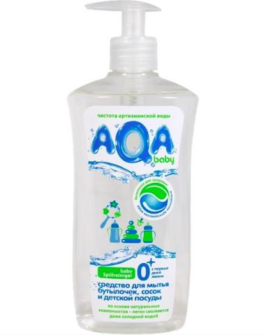 AQA baby. Средство для мытья бутылочек, сосок и детской посуды, 500 мл