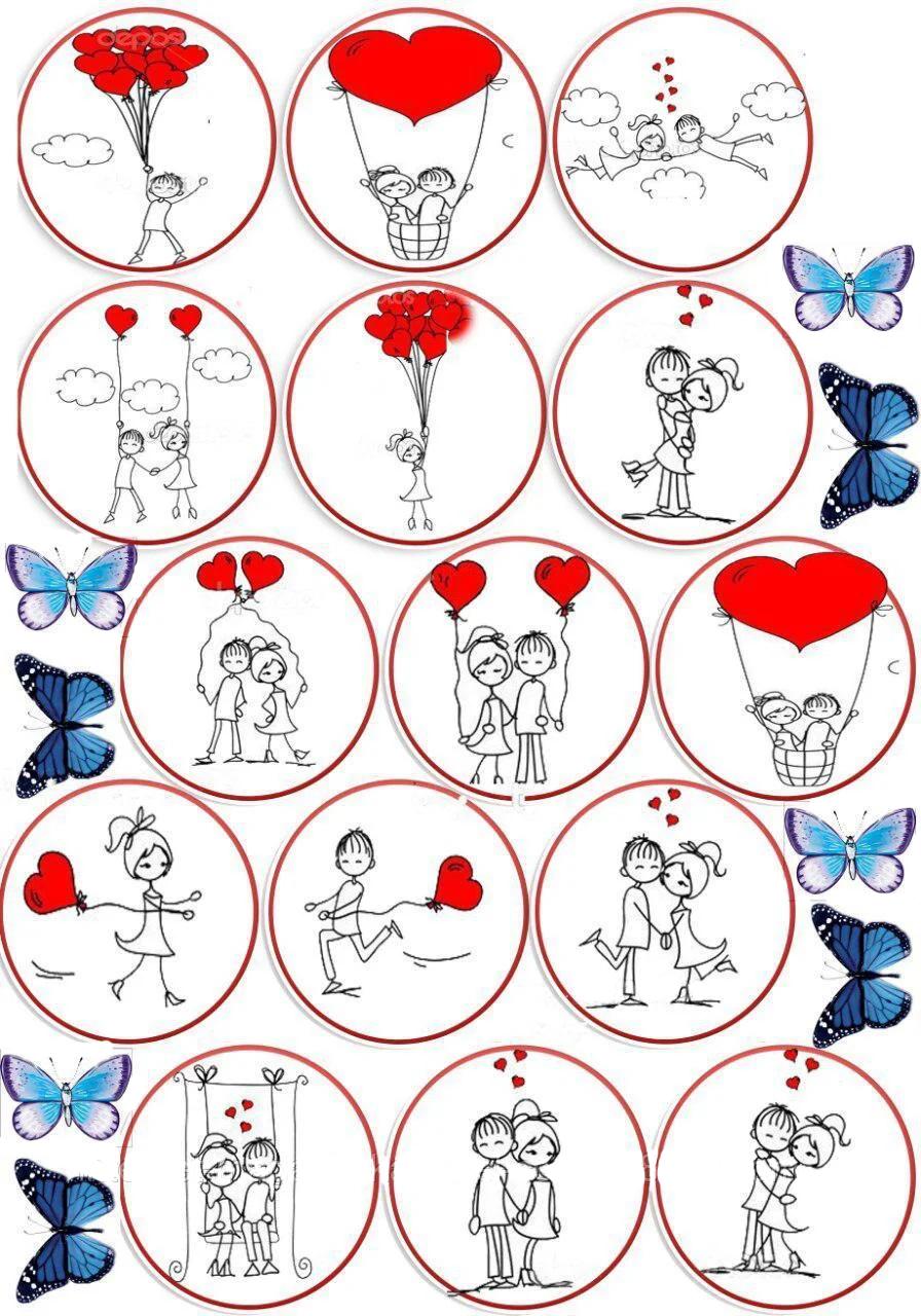 шаблоны свадебных картинок для капкейков для себя новую