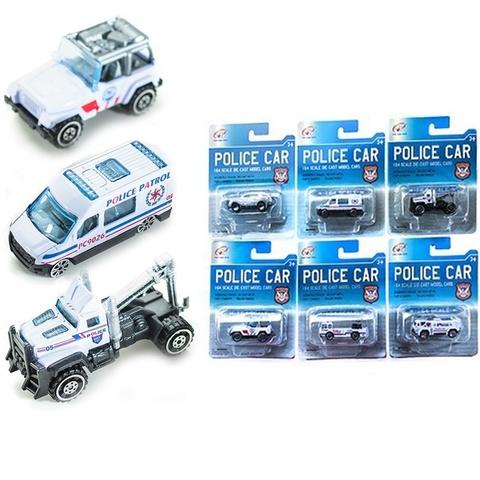 Машина модель 1:64 металл полиции TianHongToys в ассортименте на карт.,1кор*1бл*6шт