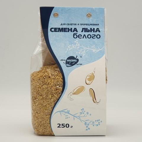 Семена Льна белого для салатов и проращивания ОБРАЗ ЖИЗНИ, 250 гр
