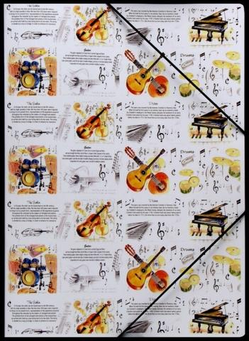 Папка для нот на резинке А4