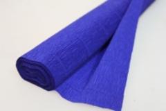 Бумага гофрированная темно-синяя (555)