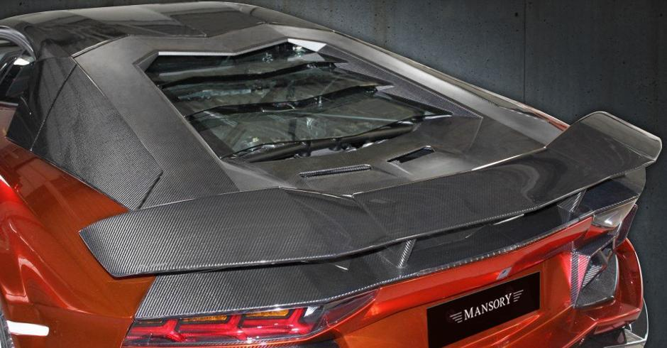Карбоновая крышка двигателя Mansory Style 2 для Lamborghini Aventador