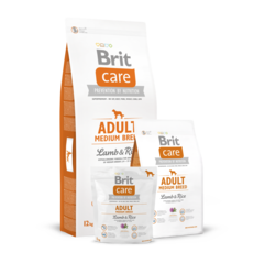 Brit Care Adult Medium Breed Сухой корм для собак средних пород Ягненок и Рис