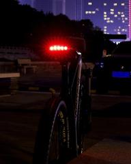 Седло велосипедное с вентиляцией и габаритом