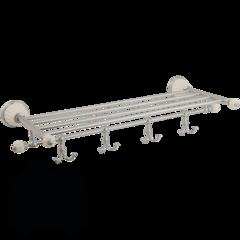 Полка-держатель для полотенец с 4-мя крючками Migliore Olivia ML.OLV-60.629.BI.CR хром