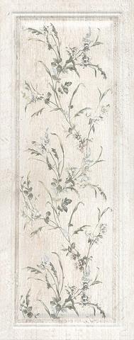 Плитка настенная Кантри Шик белый панель декорированный 7188 200х500