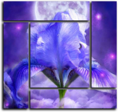 """Модульная картина """"Синие пламя"""""""